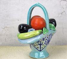 Capodimonte style Fruit Basket Porcelain Centerpiece Italy Colorful