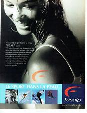 Publicité Advertising 108  2002    vetements ski sport  Fusalp
