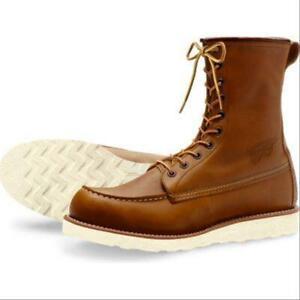 Red Wing Heritage 877 Men 8-Inch Moc Boot(Oro iginal Lthr, Brown Eyelet & Logo)