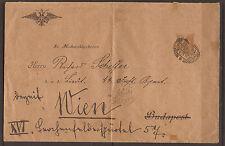 AUSTRIA. 1904. IMPRINTED 3h ENVELOPE. OFFICIAL MILITARY CORRESPONDANCE. ADDRESSE