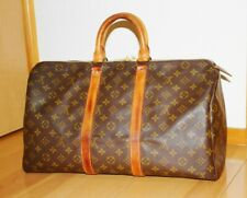 Auth Louis Vuitton Monogram Keepall 45 Boston Bag M41428 LV
