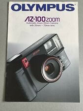 Olympus AZ-100 zoom 35mm Camera, A4 Paper Brochure, 6 Pages, 1990