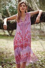 Anthropologie Floreat Wisteria Floral Print Lavender Silk Dress.size 2 $188.00