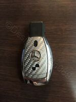 Carbon Grau Folie Dekor Schlüssel Mercedes A B C D E G S Klasse AMG 2 Tasten