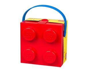 Lego Set 40240001 Lunch Box With Handle 4 Knob Kids Classic Bright Red Brand New