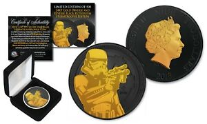2018 NZM 1oz Silver STORMTROOPER Star Wars Coin with BLACK RUTHENIUM & 24K Gold