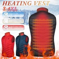 Heated Vest Warm Body Electric USB Men Women Heating Coat Jacket Winter USA