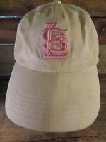 St Louis CARDINALS Baseball MLB White Pink Adjustable Adult Cap Hat
