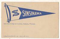 SAINT CLARA COLLEGE AND ACADEMY Pennant, Sinsinawa WI Vintage Wisconsin Postcard