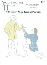 Schnittmuster RH 021: 14th Century Men's Jupon or Pourpoint