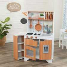 Kidkraft Taverna Play Kitchen | Wooden Play Kitchen | 2 plates, pan and spatula