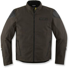 Icon 1000 SQUALBORN Waterproof Textile Motorcycle Jacket (Espresso) L (Large)