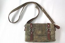 Chez Fine Leather goods Small Shoulder Bag  Reptile Pattern Casual Wear