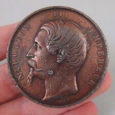 ancienne médaille en étain / Caque / alliance franco-sarde indépendance Italie