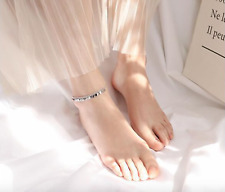 New! Solid 925 Sterling Silver Bohemian Anklet + Gift bag!