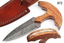 Superb Daggers Custom Hand Made Damascus Steel 7.5 Inch Hunting Dagger Knife
