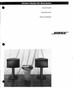 Bose Lifestyle 901 Owner's Guide Manual