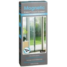 Black Magnetic Door Screen Easy installation Keep Fresh Air & Bugs & Insect Out
