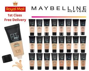 Maybelline Fit Me Matte & Poreless Foundation Brand NEW Free UK Delivery