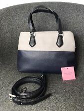 kate spade new york Hailey Medium Leather Handbag , Grey And Navy Blue £295