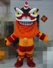 Cute Lion Dance Mascot Clothes Wool Zodiac Art Chinese Folk Animal Dress Suit A+