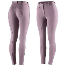 Horze Women's Purple Riding Active Silicone Grip Full Seat Breeches Us 26/Eu 38