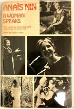 A Woman Speaks - Anaïs Nin Very Good Hardcover First Edition First Printing 1975