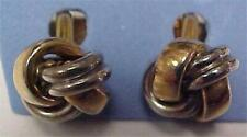 "Cuff Links-Vintage-1/2"" Gold/Silver Tone Love Knots-elbow backs #13566C"