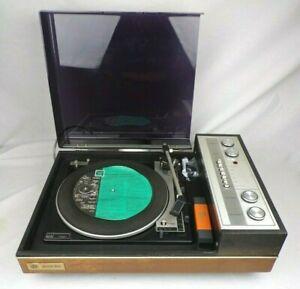 Vintage Record Player c. 1973 PYE Black Box 1022 BSR P128R 3-Speed LP Vinyl Rare