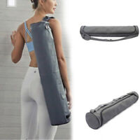 Yoga Pilates Mat Pad Storage Backpack Sport Fitness Shoulder Bag Waterproof Grey