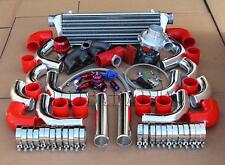 D-SERIES D15/D16 EK/EF/EG T3 MANIFOLD TURBOCHARGER KIT CHROME PIPE RED COUPLER