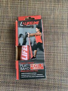 Lifeline Flat Band-LEVEL 2 Light - Rubber Resistance Tool for Stamina + Strength