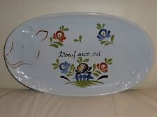 French Pottery Dutertre Desvres Serving Tray or Wall Plate