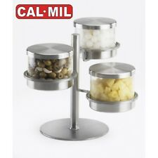 Cal-Mil - 1855-4-55 - 3 Tier, Three Jar 16 oz Offset Mixology Jar Display