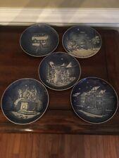 Royal Coppenhagen Christmas Plates. Set Of 5. 1985-1989