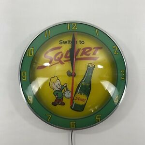 Switch To Squirt Double Bubble Advertising Soda Clock