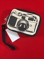 """Vintage Camera"" Printed Canvas Wristlet"