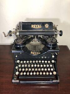 Antique 1922 Royal Typewriter Model 10 w/ Dual Beveled Glass Sides X-677318
