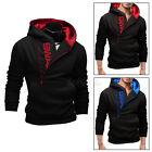 Men's Stylish Slim Warm Hooded Sweatshirt Zipper Coat Jacket Outwear Sweater New