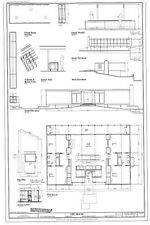Mid-century modern home design, Lee House, printed architectural plans,