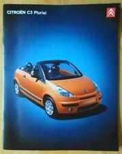 CITROEN C3 Pluriel 2003 UK Mkt large format prestige sales brochure