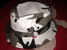 SUPREME 2013 F/W URBAN CAMO CRUSHER S/M BLACK SNOW WHITE BOX LOGO BUCKET HAT PCL