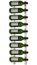 9 Bottle VintageView® Metal Wall Mounting Wine Rack. Brushed Nickel Finish