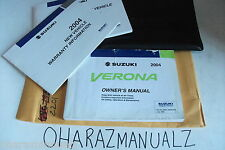 2004 Suzuki Verona Owner Owners Owner's Manual with Folder