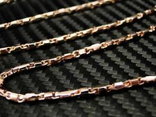 Mens Fancy Chain/Necklace 10K Rose/Pink/Red Gold 34inches Solid Heavy Link