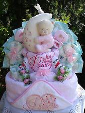 """Windeltorte""""Little Princess Kaputzenbadetuch,Bärenspieluhr und Babyset"""""""