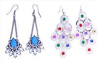 Stunning Boho style drop dange / peacock chandelier earrings, multiple choices