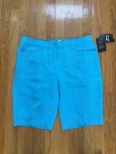 NWT Slazenger Highfield Hull Bermuda Aqua Blue Golf/Casual Shorts 10