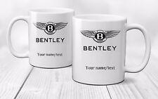 Personalised Bentley Logo Mug Cup Gift Coffee Tea Cars - Ceramic 320ml