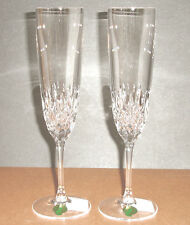 Waterford Crystal Lismore Encore Champagne Flute(s) Pair #156180 New Boxed
